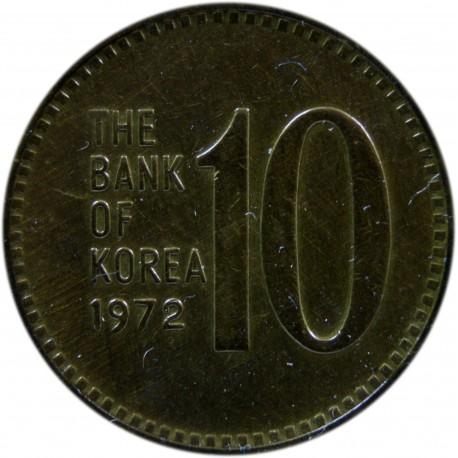Korea Południowa 10 wonów, 1972