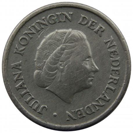 Antyle Holenderskie ¼ guldena, 1956, srebro, stan 2