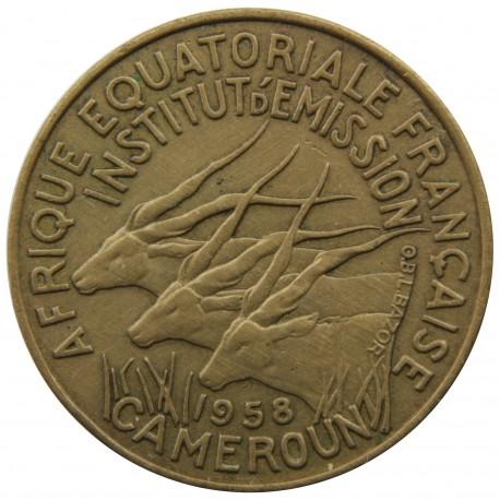 Francuska Afryka Równikowa 5 franków, 1958, stan 2