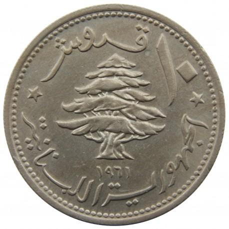Liban 10 piastrów, 1961, stan 1-