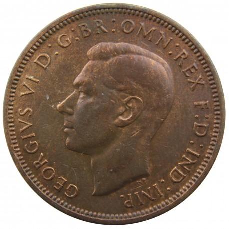 Wielka Brytania ½ pensa, 1939, stan 1-