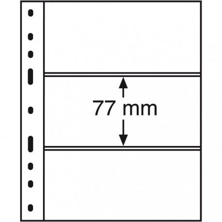 Koszulka do banknotów OPTIMA, 3 okna, przezroczysta
