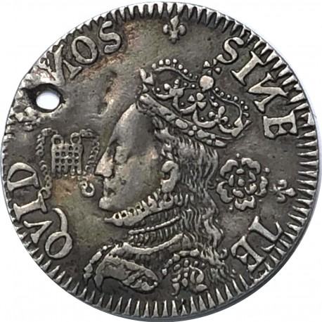 """Elizabeth I silver medal - Defence of the Kingdom 1572 United Kingdom"""
