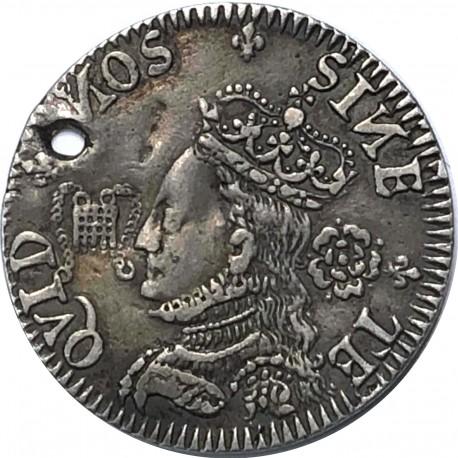 """Elizabeth I silver medal - Defence of the Kingdom 1572 United Kingdom"""