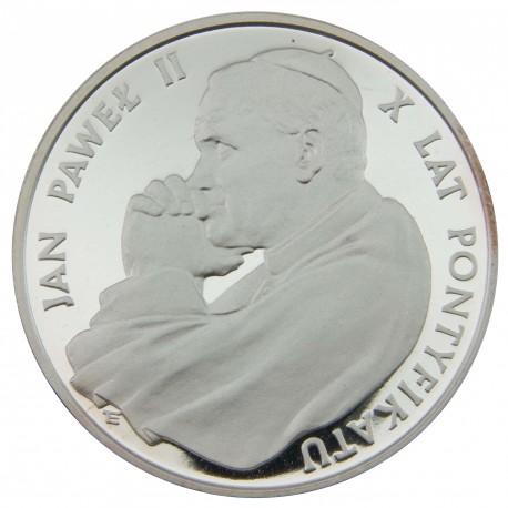10 000 zł, X lat pontyfikatu Jana Pawła II