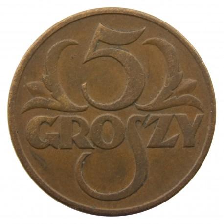 5 groszy 1937 rok, stan 2