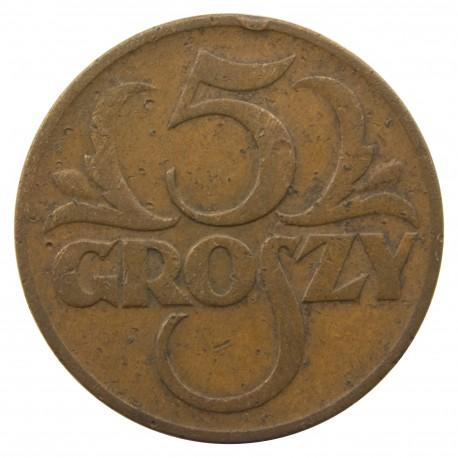 5 groszy 1935, stan 3-