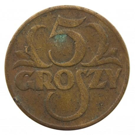 5 groszy 1936, stan 3-