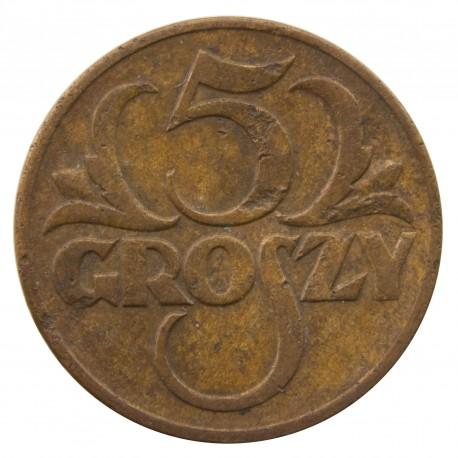 5 groszy 1938, stan 3-