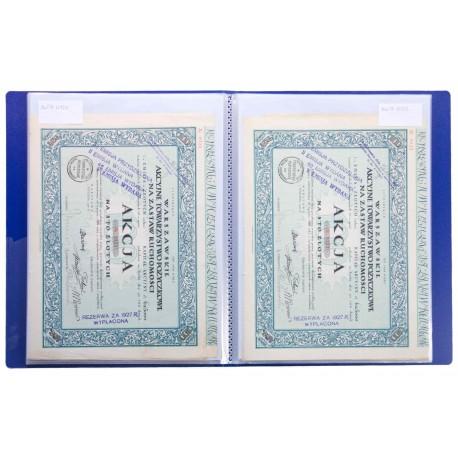Album na papiery wartościowe (akcje) A4, 20 kieszeni, niebieski