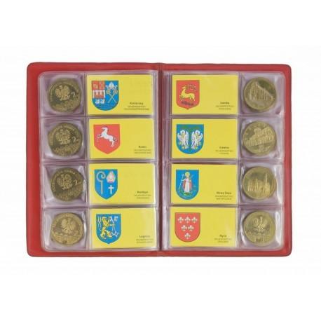 Zestaw monet miasta polskie, 32 x 2 zł GN w albumie.