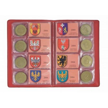 Zestaw monet wojewódźtwa polskie, 16 x 2 zł GN w albumie.