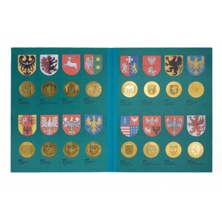 Zestaw monet wojewódźtwa polskie, 16 x 2 zł GN w zielonym albumie.
