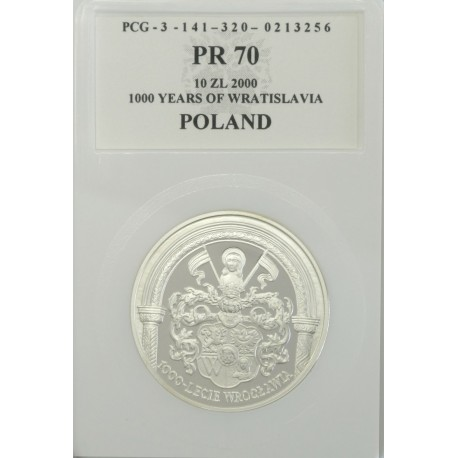 10 zł, 1000-lecie Wrocławia, PR70